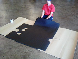 Diamond Plate Acoustical Floormats in Use