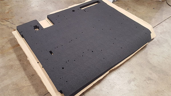 Stacked Acoustical Floormats to Ship